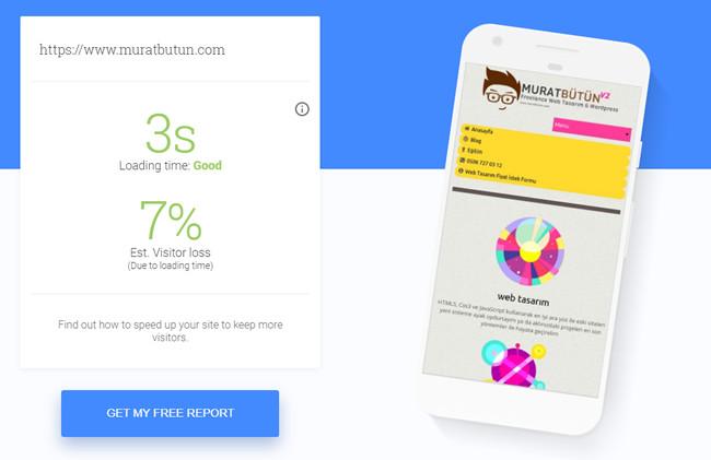 Sitenizin Mobil Versiyonunun Hızını Test Edin