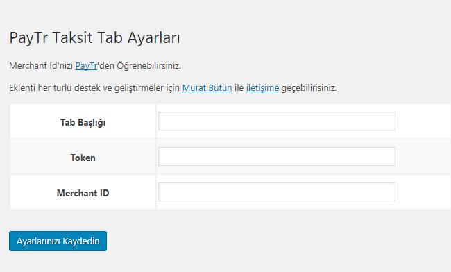 WooCommerce PayTr Taksit Tabı